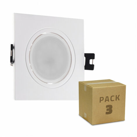 Pack 3 Focos Downlight GU10 6W