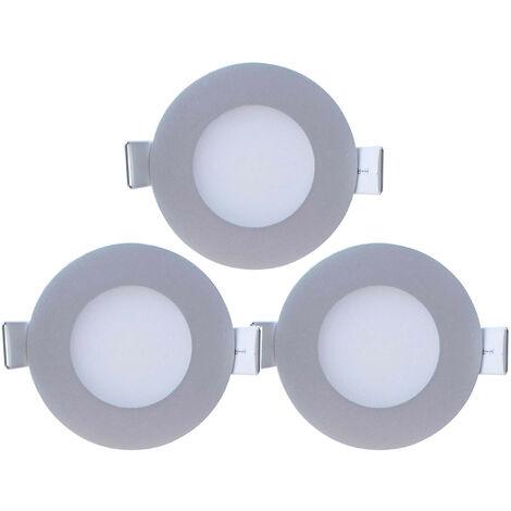 Pack 3 Mini Downlight LED Ultraslim Empotrable Redondo 4W 300lm Ø7cm