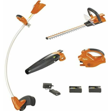 Pack 3 outils de jardin sur Batterie Flymo interchangeable