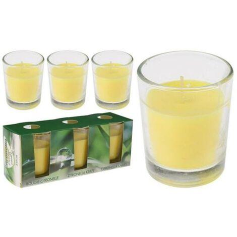 BLUNGI velas vasito vidrio 6x5 cm con citronela pack 3