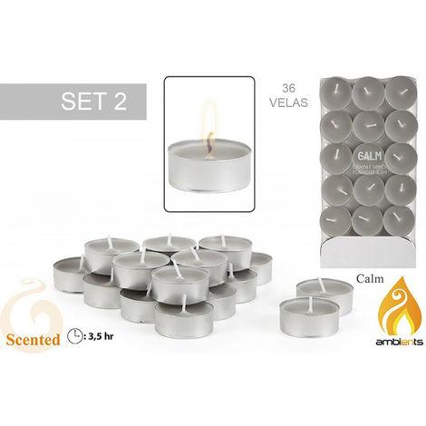 Pack 36 velas aromáticas pequeñas - Modelo calm