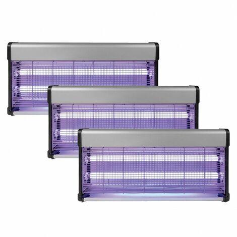 Pack 3x PEREL Destructeur Anti Moustiques Insectes 40W Désinsectiseur UV
