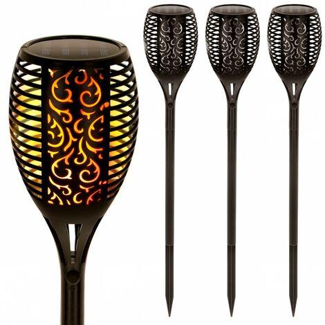 Pack 4 antorcha solar luz LED Aktive Tech