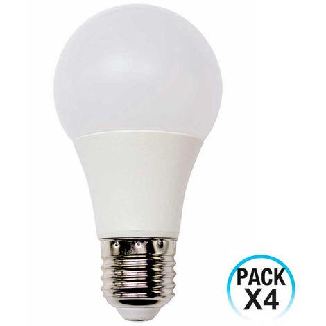 Pack 4 Bombillas LED Estándar E27 9W Equi.60W 806lm 10000H ECO 1Primer Low Cost