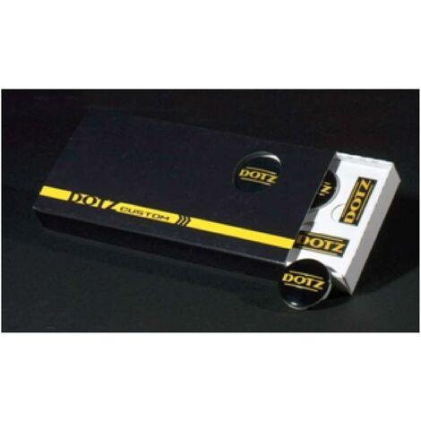Pack 4 caches Moyeux - 4 autocollants DOTZ - couleur noir-jaune