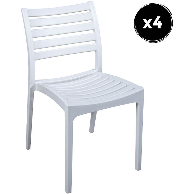 Imperial Relax - Pack 4 Chaise Quebec Blanc Polipropilene