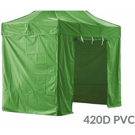 PACK 4 CÔTÉS - 3 MURS PLEINS AVEC UNE PORTE 420D POLYESTER ENDUCTION PVC 2X3M GAMME 40MM