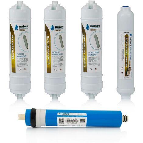 Pack 4 filtros osmosis inversa compactos y membrana Vontron - NatureWater Professionals