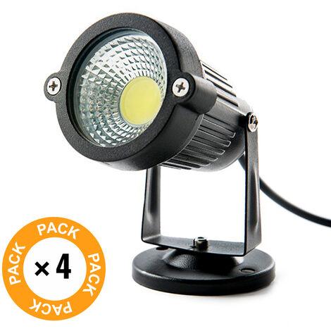 """main image of """"Pack 4 Foco LED COB Jardínes 5W 450Lm 30.000H"""""""