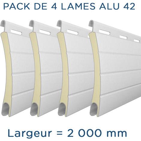 """main image of """"Pack 4 Lames - 2000mm - Aluminium 42 - Blanc Alulux"""""""