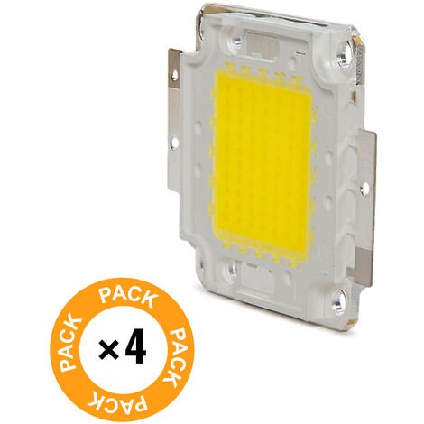 Pack 4 LEDs High Power COB30 50W 5000Lm 50.000H   Blanco Frío (CH-LED-50W-30MIL-CW-PK4-AP)