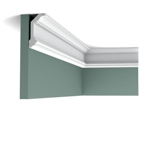 Pack 4 mètres C321 Corniche plafond Orac Decor - 10x5x200cm (h x p x L) - moulure décorative polyuréthane - rigide ou flexible : rigide - conditionnement : Pack 2 pièces