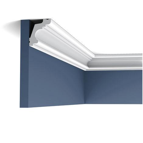 Pack 4 mètres C322 Corniche plafond Orac Decor - 5x4x200cm (h x p x L) - moulure décorative polyuréthane - rigide ou flexible : rigide - conditionnement : Pack 2 pièces