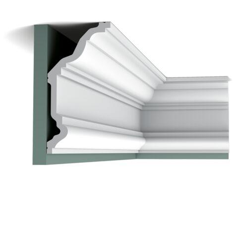 Pack 4 mètres C332 Corniche plafond Orac Decor - 11,5x23x200cm (h x p x L) - moulure décorative polyuréthane - Conditionnement : Pack 2 pièces