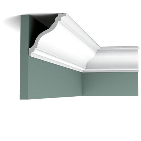 Pack 4 mètres C333 Corniche plafond Orac Decor - 12,5x11,5x200cm (h x p x L) - moulure décorative polyuréthane - rigide ou flexible : rigide - conditionnement : Pack 2 pièces
