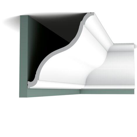Pack 4 mètres C335 Corniche plafond Orac Decor - 21,5x20x200cm (h x p x L) - moulure décorative polyuréthane - Conditionnement : Pack 2 pièces