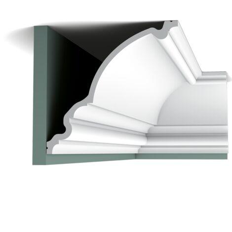 Pack 4 mètres C336 Corniche plafond Orac Decor - 27x26x200cm (h x p x L) - moulure décorative polyuréthane - Conditionnement : Pack 2 pièces
