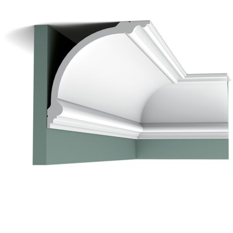Pack 4 mètres C338 Corniche plafond polyuréthane Orac Decor - 18x18x200cm (h x p x L) - moulure décorative polyuréthane - Conditionnement : Pack 2 pièces