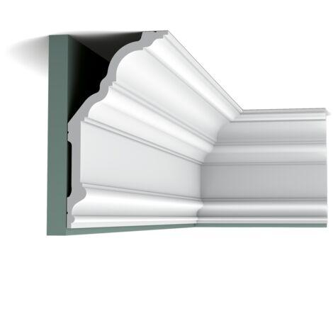 Pack 4 mètres C340 Corniche plafond Orac Decor - 25,5x20x200cm (h x p x L) - moulure décorative polyuréthane - Conditionnement : Pack 2 pièces