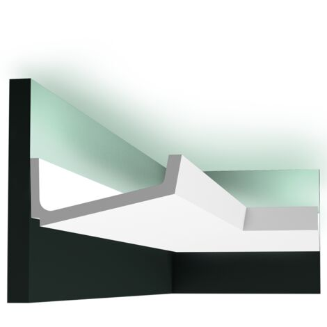 Pack 4 mètres C352 Corniche plafond pour éclairage indirect Orac Decor - 7,5x17x200cm (h x p x L) - moulure décorative polyuréthane - Conditionnement : Pack 2 pièces