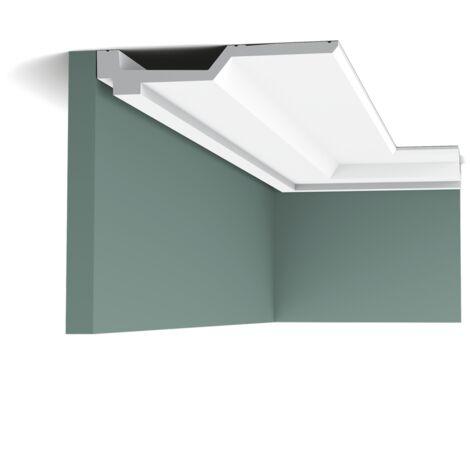 Pack 4 mètres C354 Corniche plafond polyuréthane Orac Decor - 4x21,5x200cm (h x p x L) - moulure décorative polyuréthane - Conditionnement : Pack 2 pièces