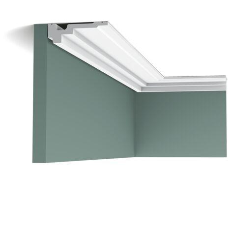 Pack 4 mètres C355 Corniche plafond polyuréthane Orac Decor - 3,5x11x200cm (h x p x L) - moulure décorative polyuréthane - Conditionnement : Pack 2 pièces