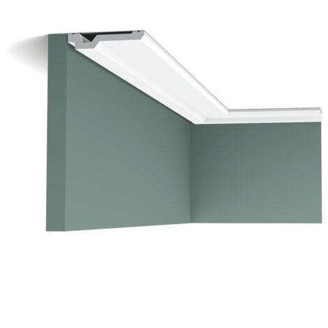 Pack 4 mètres C356 Corniche plafond Orac Decor - 2x10x200cm (h x p x L) - moulure décorative polyuréthane - Conditionnement : Pack 2 pièces