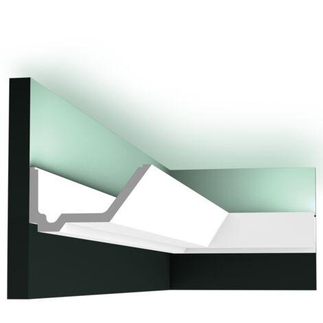 Pack 4 mètres C358 Corniche plafond pour éclairage indirect Orac Decor - 7,5x14x200cm (h x p x L) - moulure décorative polyuréthane - Conditionnement : Pack 2 pièces