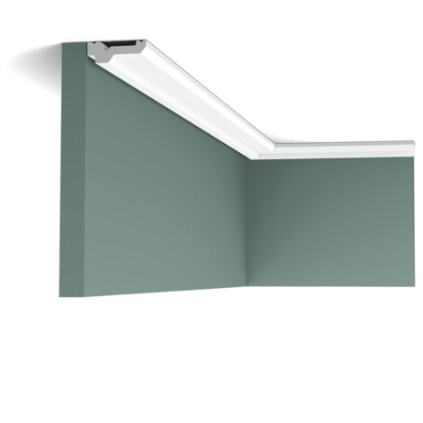 Pack 4 mètres C360 Corniche plafond Orac Decor - 2x6x200cm (h x p x L) - moulure décorative polyuréthane - Conditionnement : Pack 2 pièces