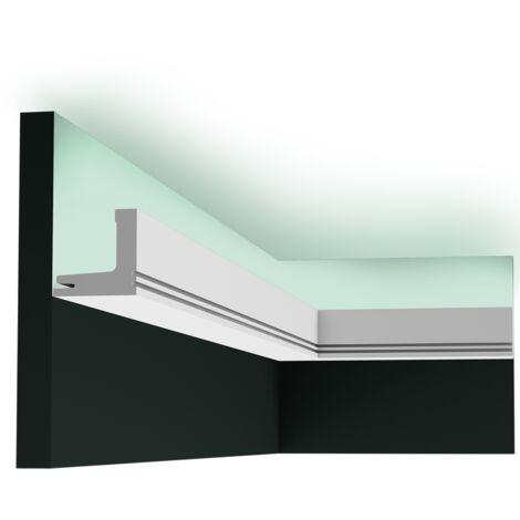 Pack 4 mètres C361 Corniche plafond pour éclairage indirect Orac Decor - 5x5x200cm (h x p x L) - moulure décorative polyuréthane - Conditionnement : Pack 2 pièces
