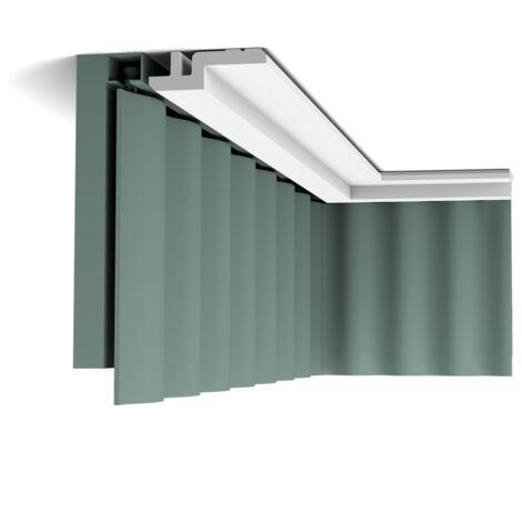 Pack 4 mètres C394 STEPS Corniche Plafond Orac Decor - Luxxus -9,5x3,1x200cm (h x p x l) - moulure décorative polyuréthane - Conditionnement : Pack 2 pièces