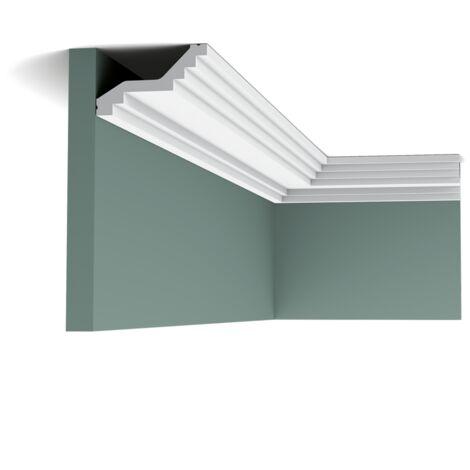 Pack 4 mètres C400 Corniche plafond polyuréthane Orac Decor - 6x10x200cm (h x p x L) - moulure décorative polyuréthane - Conditionnement : Pack 2 pièces
