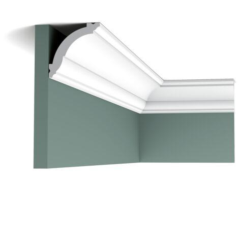Pack 4 mètres CX100 Corniche plafond Orac Decor - 7x7x200cm (h x p x L) - moulure décorative polymère - rigide ou flexible : rigide - conditionnement : Pack 2 pièces