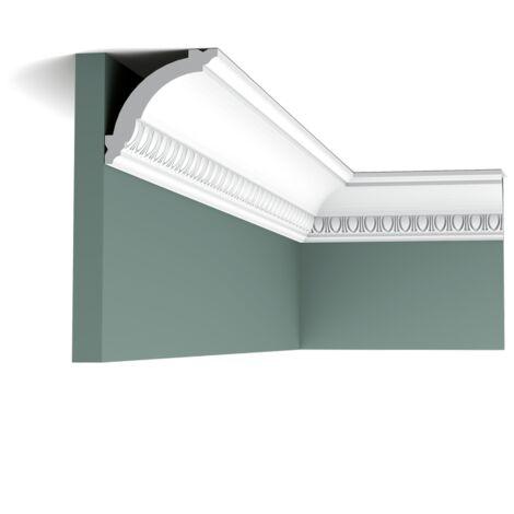 Pack 4 mètres CX101 Corniche plafond Orac Decor - 7x7x200cm (h x p x L) - moulure décorative polymère - Conditionnement : Pack 2 pièces