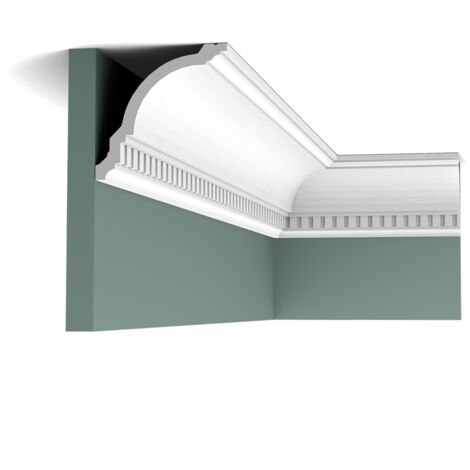 Pack 4 mètres CX107 Corniche plafond Orac Decor - 12x12x200cm (h x p x L) - moulure décorative polymère - Conditionnement : Pack 2 pièces