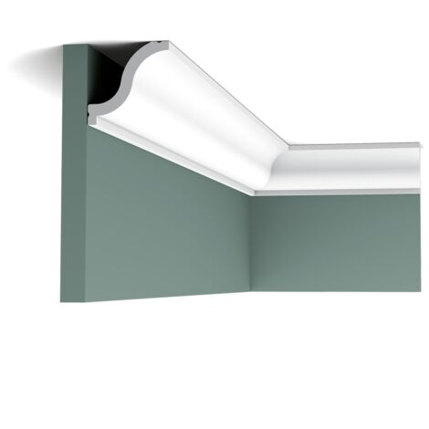 Pack 4 mètres CX108 Corniche plafond Orac Decor - 5,5x5,5x200cm (h x p x L) - moulure décorative polymère - Conditionnement : Pack 2 pièces