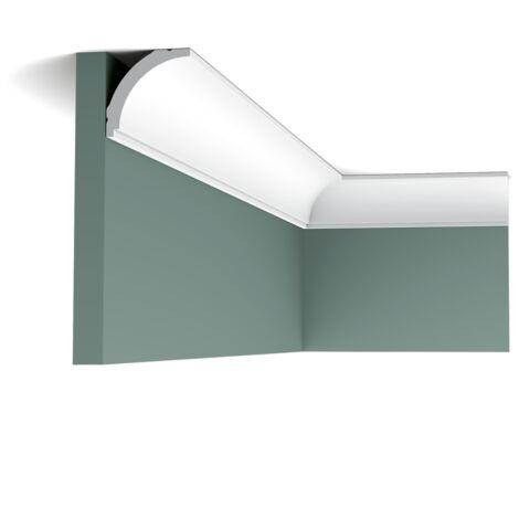 Pack 4 mètres CX109 Corniche plafond Orac Decor - 4,5x4,5x200cm (h x p x L) - moulure décorative polymère - rigide ou flexible : rigide - conditionnement : Pack 2 pièces