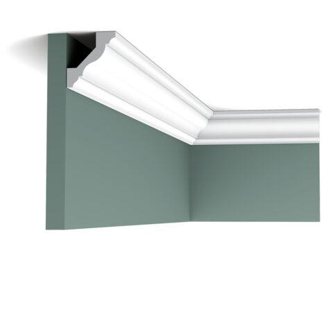 Pack 4 mètres CX110 Corniche Plafond Orac Decor - 4,5x4,1x200cm (h x p x L) - moulure décorative polymère - rigide ou flexible : rigide - conditionnement : Pack 2 pièces