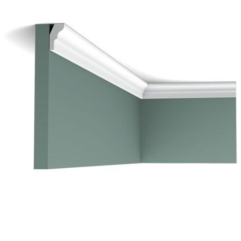 Pack 4 mètres CX111 Corniche Plafond Orac Decor - 2,5x1,5x200cm (h x p x L) - moulure décorative polymère - Conditionnement : Pack 2 pièces