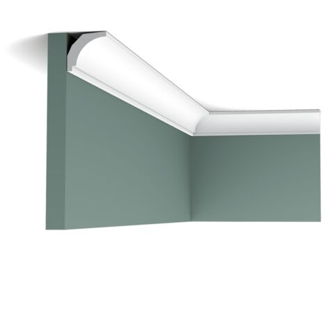 Pack 4 mètres CX115 Corniche plafond Orac Decor - 3x3x200cm (h x p x L) - moulure décorative polymère - Conditionnement : Pack 2 pièces