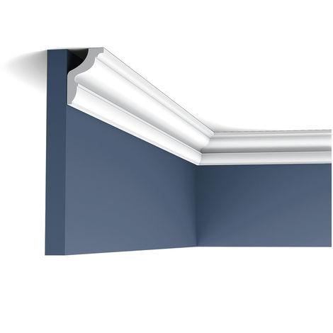 Pack 4 mètres CX148 Corniche plafond Orac Decor - 4,5x3x200cm (h x p x L) - moulure décorative polymère - rigide ou flexible : rigide - conditionnement : Pack 2 pièces