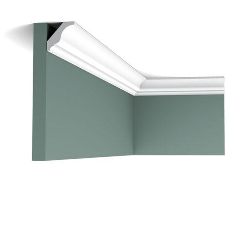 Pack 4 mètres CX154 Corniche plafond Orac Decor - 3x3x200cm (h x p x L) - moulure décorative polymère - Conditionnement : Pack 2 pièces