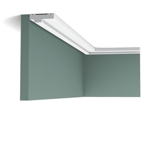 Pack 4 mètres CX160 Corniche plafond Orac Decor - 1,3x4x200cm (h x p x L) - moulure décorative polymère - Conditionnement : Pack 2 pièces
