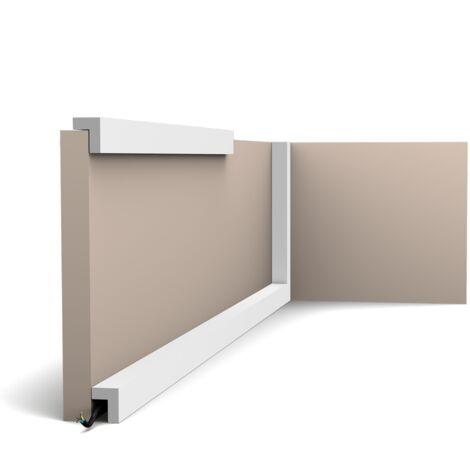 Pack 4 mètres PX164 Moulure multifonctionnelle Orac Decor - 3x2,5cm (h x p) - plinthe décorative - conditionnement : Pack 2 pièces