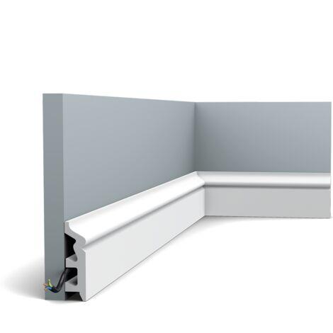 Pack 4 mètres SX122 Plinthe Orac Decor - 8x2,2x200cm (h x p x L) - plinthe décorative polymère - Conditionnement : Pack 2 pièces