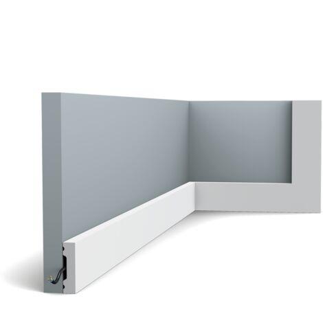 Pack 4 mètres SX162 Moulure multifonctionnelle Orac Decor Axxent - 4x1cm (h x p) plinthe décorative - rigideouflexible : rigide - longueur : 200cm - conditionnement : Pack 2 pièces