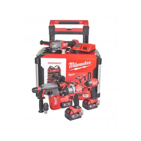 Pack 4 outils MILWAUKEE POWERPACK M18 FUEL + PACKOUT - 4933479082 - -