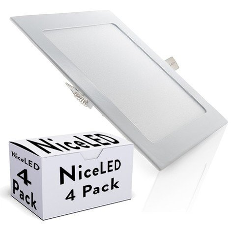 Pack 4 Placa de LEDs 225Mm 18W 1350Lm 30.000H
