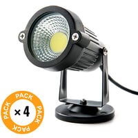 Pack 4 Projecteur LED COB Jardins 5W 450Lm 30.000H