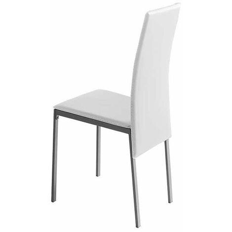 Pack 4 sillas Lyon para salón en blanco o negro 96 cm(alto)41 cm(ancho)52 cm(largo)